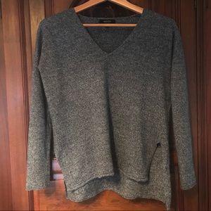 Babaton Erin Grey Wool Linen Blend Sweater